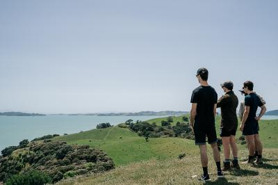 looking out over the hauraki gulf