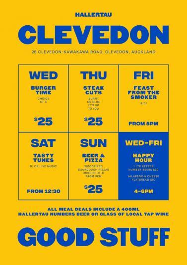 Hallertau Clevedon Meal Deals